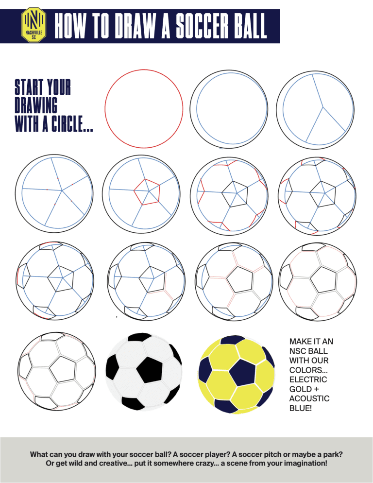 Activity Alley Draw a Soccer Ball