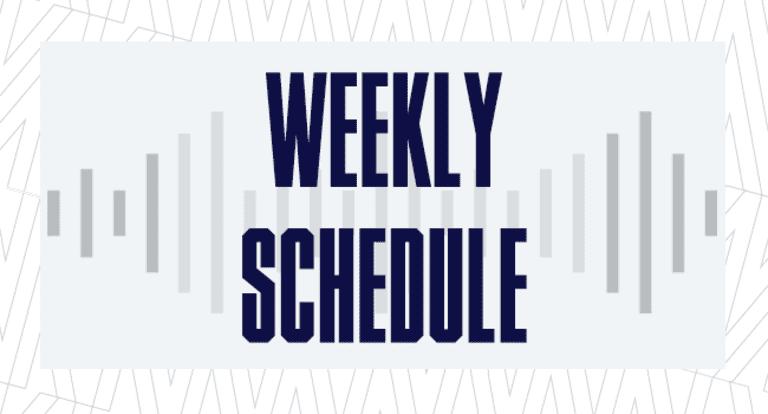 Weekly Schedule 650x350