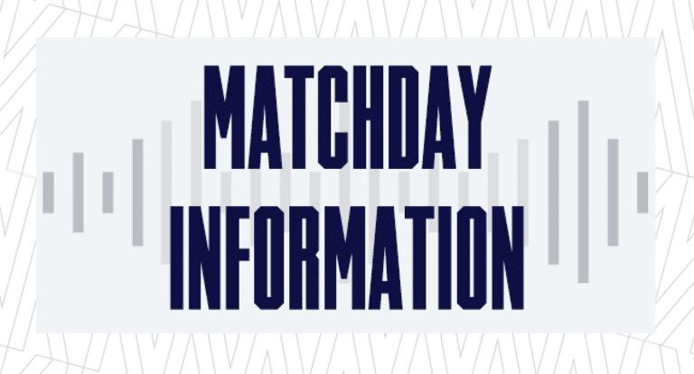 Matchday Information 650x350