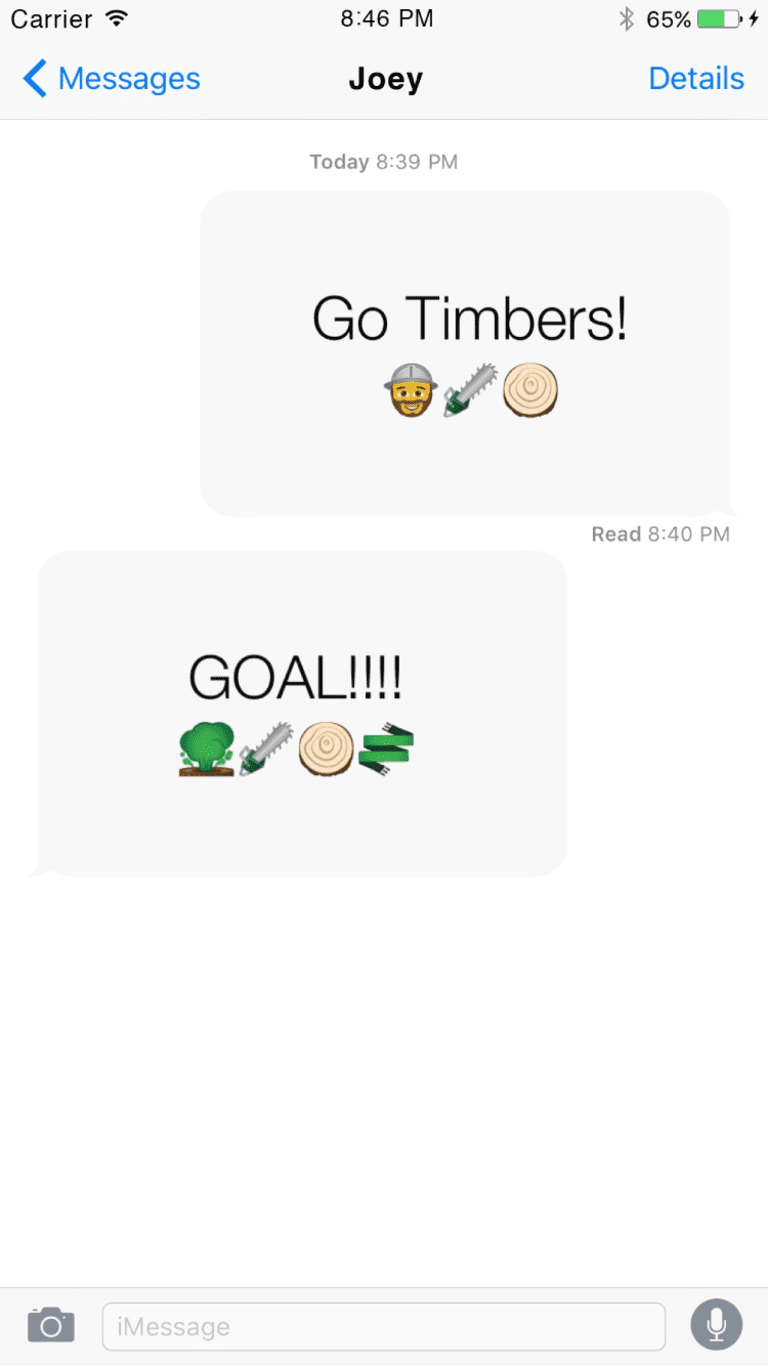 """Portland Timbers unveil first official MLS club-themed emoji application: """"Two-Stick: Timbers Messenger"""" -"""