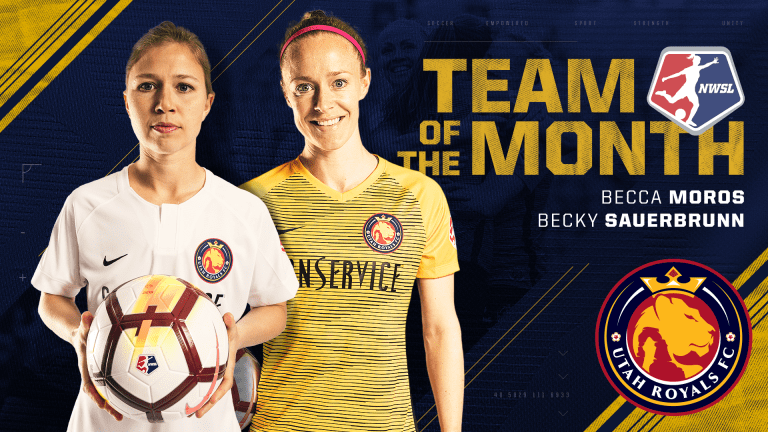 Sauerbrunn & Moros Named to NWSL Team of the Month  -