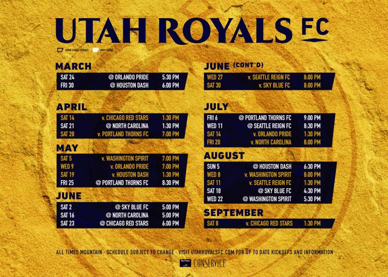 Utah Royals FC unveils inaugural season slate -