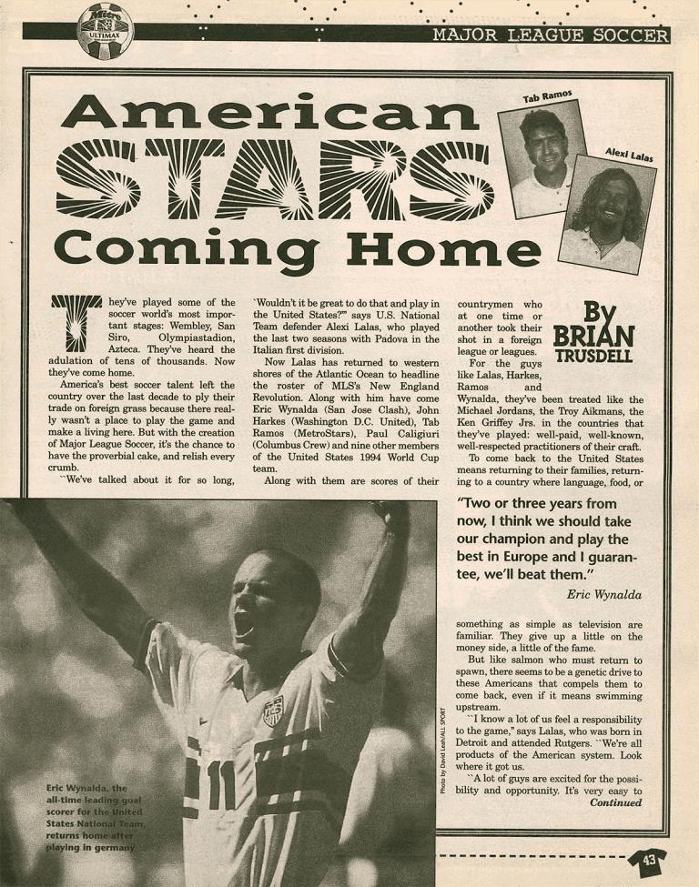 1996 FREEKICK Magazine   A League is Born -