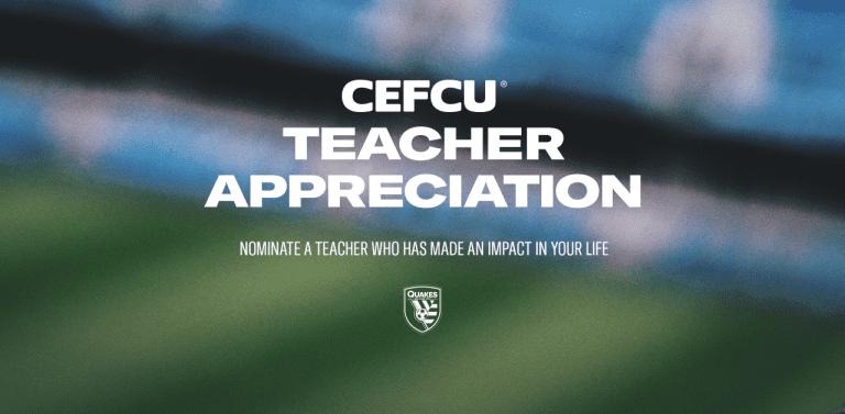 QUAKES TEACHER APPRECIATION, PRESENTED BY CEFCU -