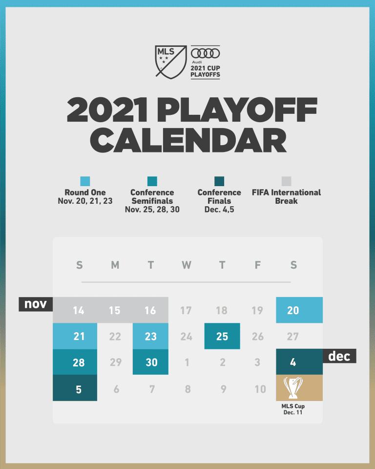 2021 Playoff Calendar