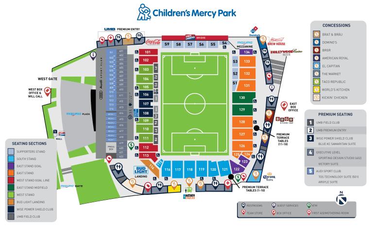 Stadium Map 2021