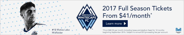 Painting the Picture presented by Benjamin Moore: 'Caps host rival TFC Saturday afternoon at BC Place -