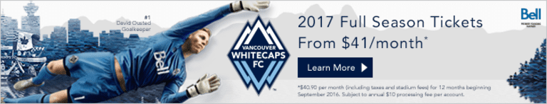 Whitecaps FC exercise 11 contract options, announce roster moves ahead of 2017 -