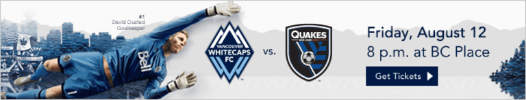 Preview: Whitecaps FC host San Jose Friday night with playoff implications on the line  -