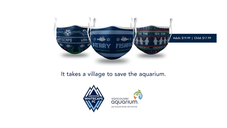 Whitecaps FC and Vancouver Aquarium bring you 'ugly Christmas sweater' face masks -