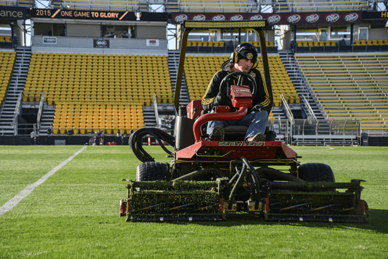 Beards, beer and the betrothed: 24 hours behind the scenes at MLS Cup | THE WORD - https://league-mp7static.mlsdigital.net/images/Groundkeeper-mowing.png