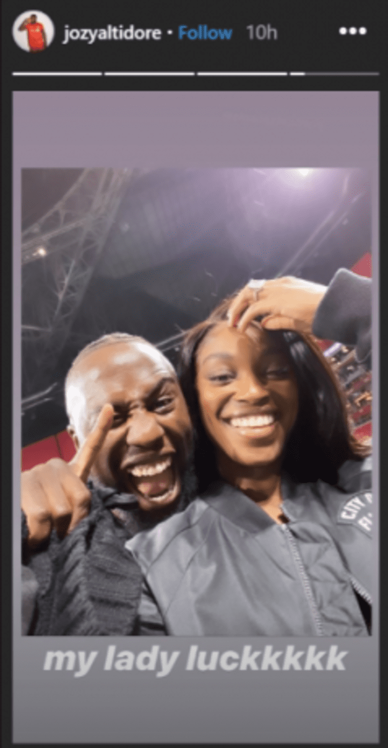 """Sloane Stephens: Jozy Altidore and Toronto FC's """"lady luck"""" in Atlanta? - https://league-mp7static.mlsdigital.net/styles/image_landscape/s3/images/Jozy%20and%20Sloane.png"""