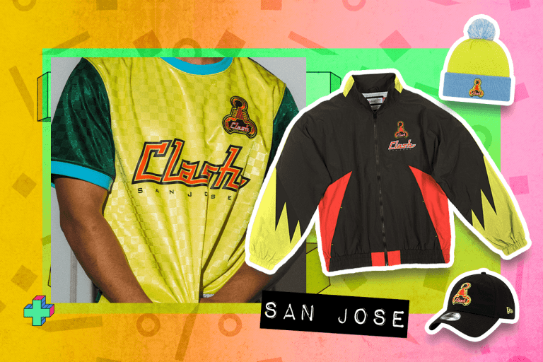 """Examples of San Jose Clash """"Since '96"""" items"""