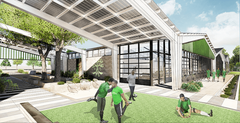 Austin FC announce plans for $45 million training center to open in 2021 - https://league-mp7static.mlsdigital.net/images/Austin_stretching.png