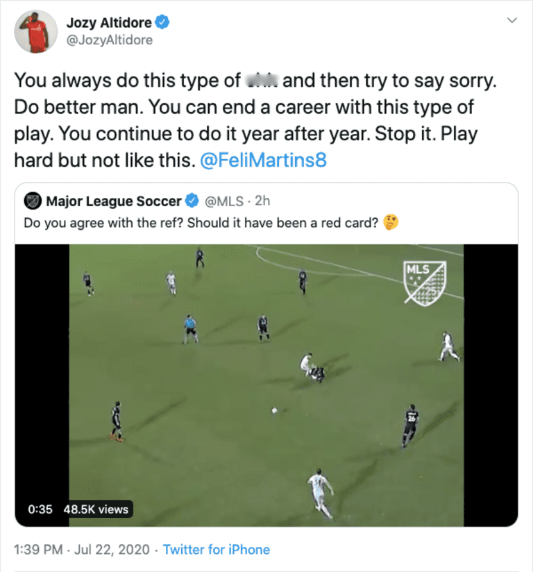 Toronto FC's Jozy Altidore calls out D.C. United's Felipe Martins for challenge - https://league-mp7static.mlsdigital.net/images/jozy-tweet.png