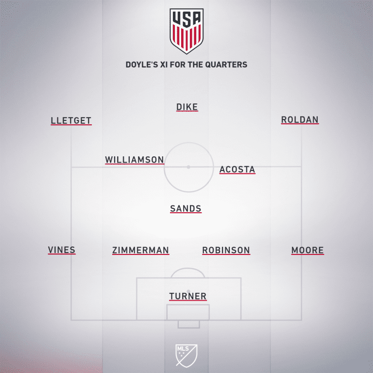 Doyle's XI for the quarters