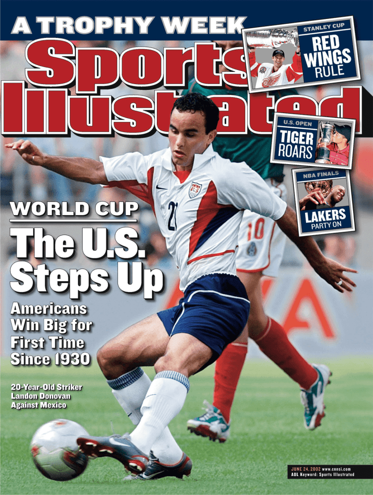 Landon Donovan on the cover of Sports Illustrated