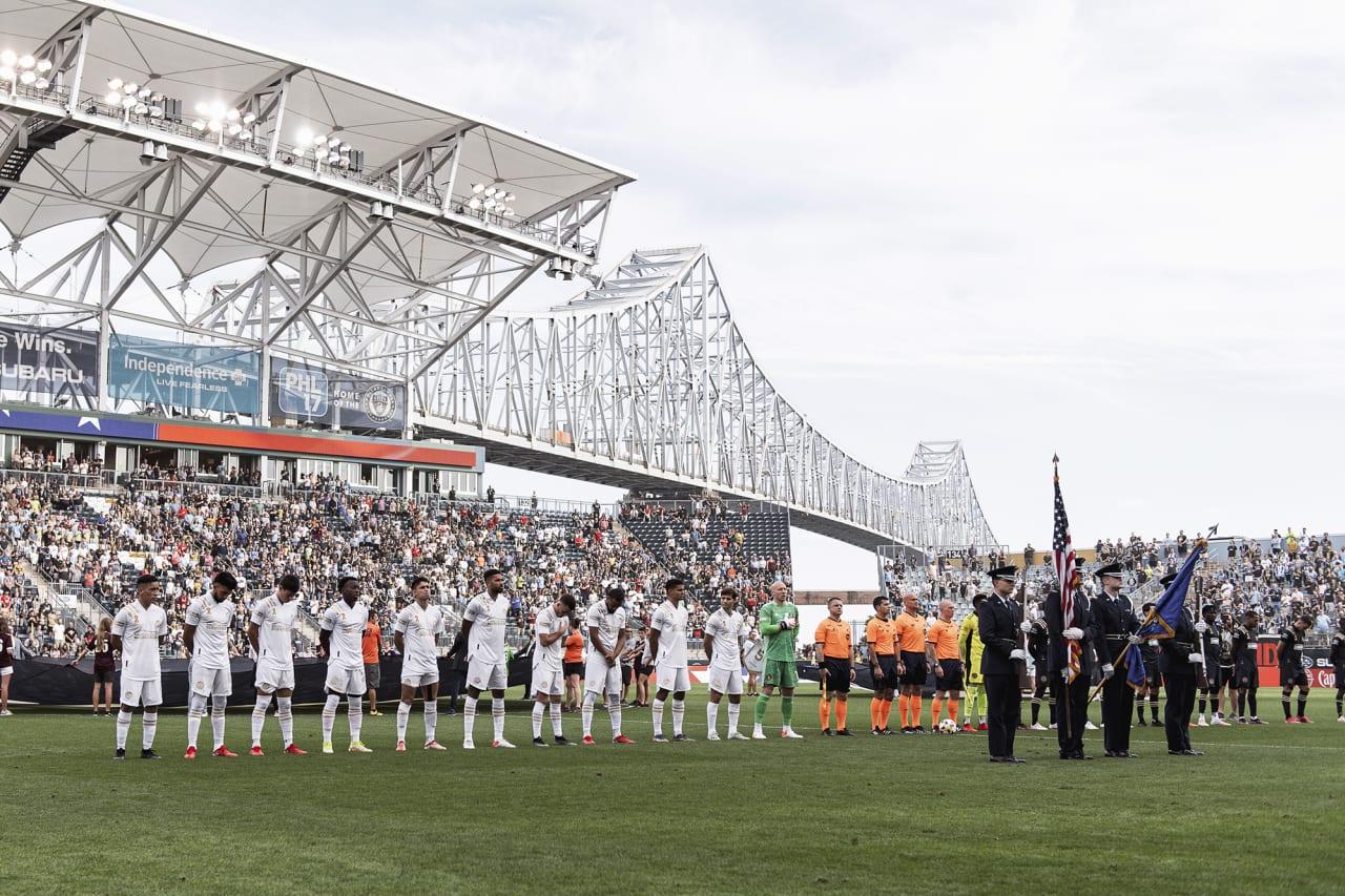 Atlanta United starting 11 line up before the match against Philadelphia Union at Subaru Park in Philadelphia, Pennsylvania on Saturday September 25, 2021. (Photo by Jacob Gonzalez/Atlanta United)