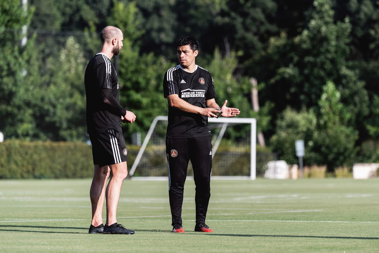 Photos from Atlanta United Head Coach Gonzalo Pineda's first training session at Children's Healthcare of Atlanta Training Grounds
