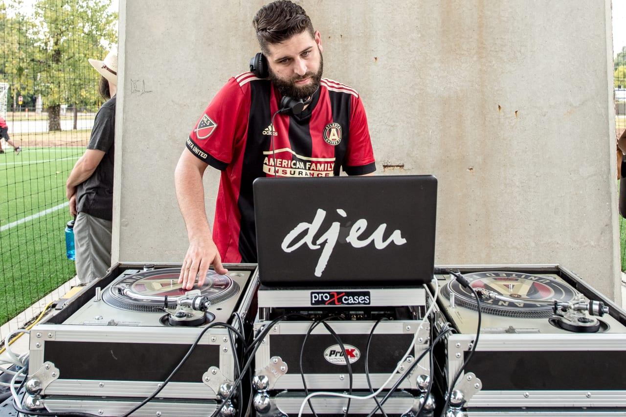 DJ EU entertaining at West End Soccer Station