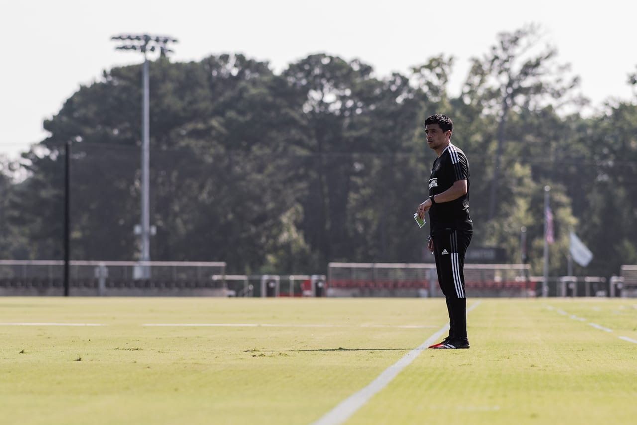 Photos from Atlanta United Head Coach Gonzalo Pineda's first training session at Children's Healthcare of Atlanta Training Grounds on Tuesday, August 24, 2021