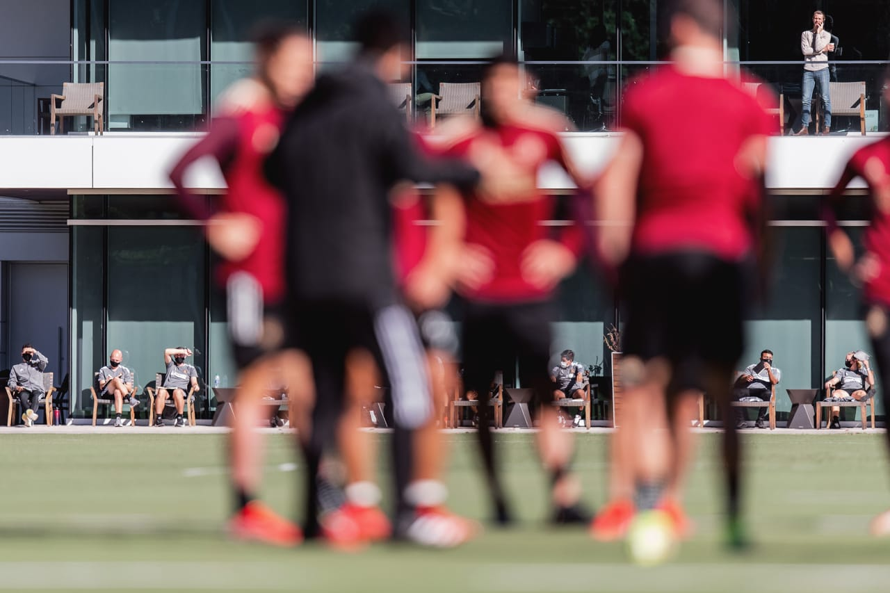 RDS coach watch during training at Children's Healthcare of Atlanta Training Ground in Marietta, GA, on Thursday September 23, 2021. (Photo by Jacob Gonzalez/Atlanta United)