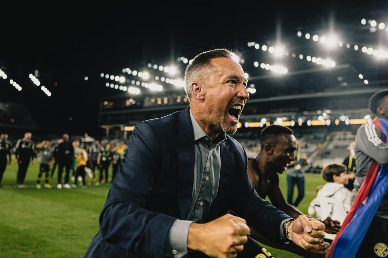 Caleb Porter delivering his passion for the supporters