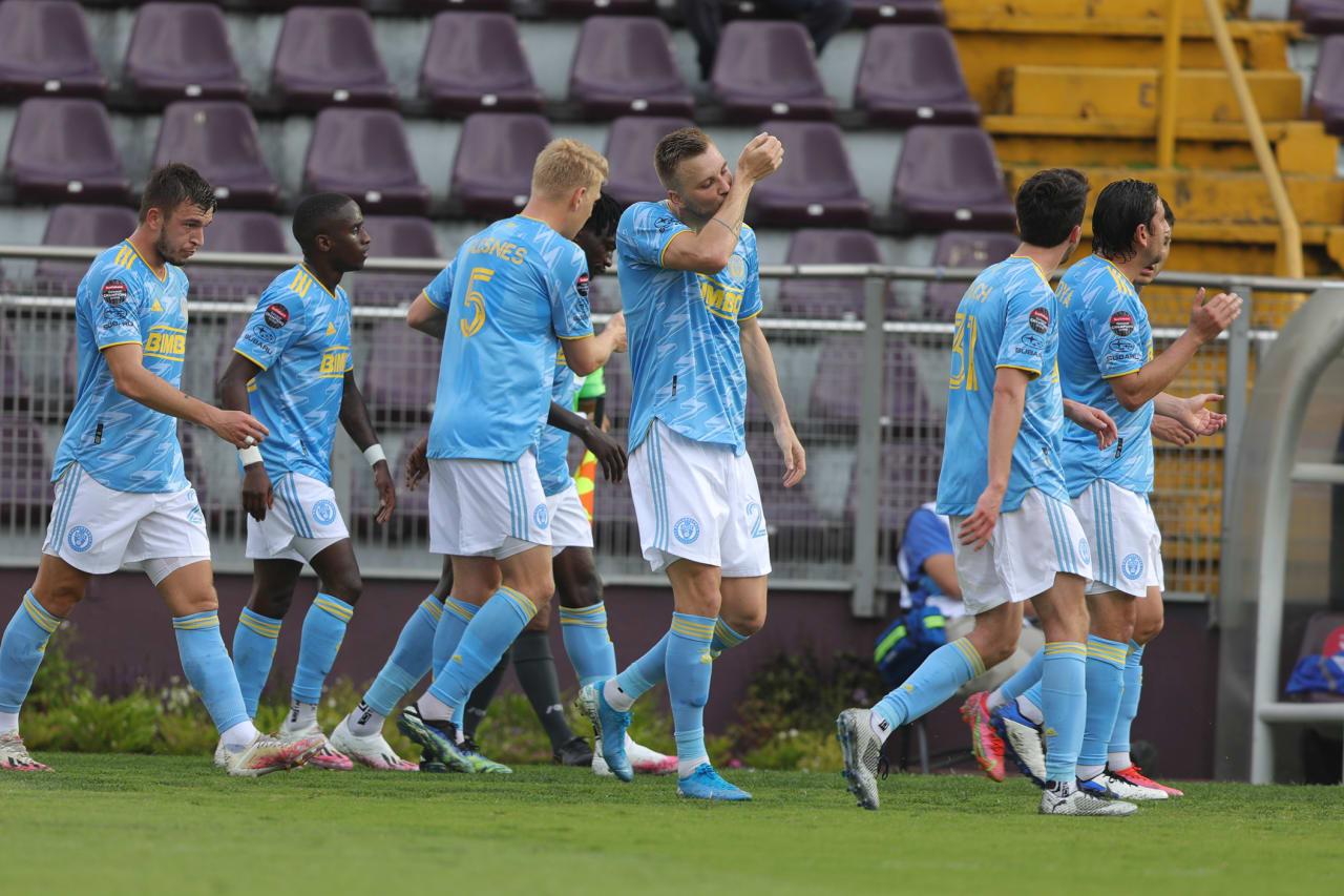 #SAPvPHI- Kacper Przybylko celebrates goal