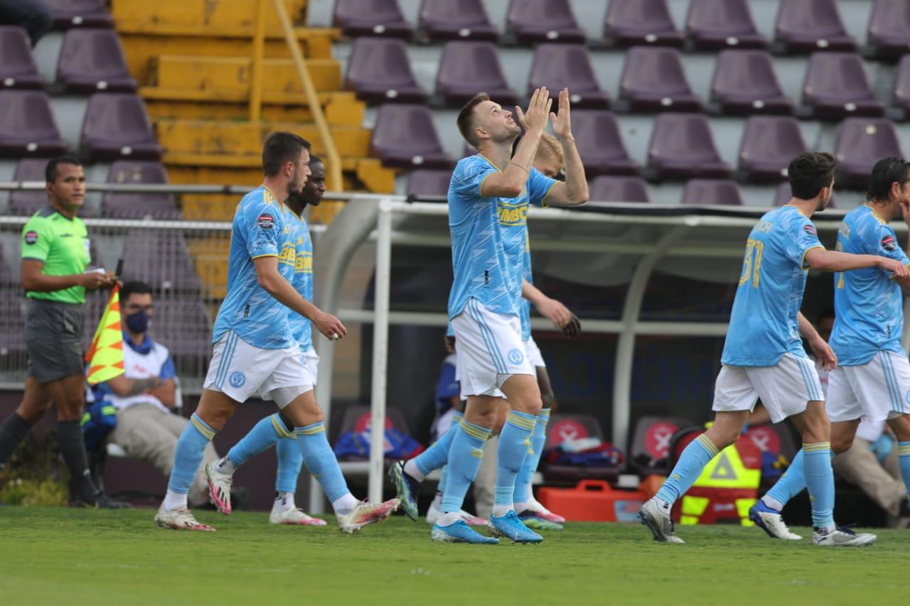 #SAPvPHI- Kacper Przybylko celebrates his goal
