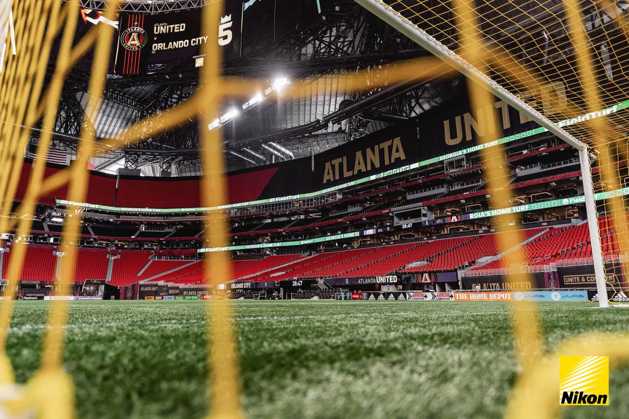 Scene setter before the match against Orlando SC at Mercedes-Benz Stadium in Atlanta, Georgia, on Friday September 10, 2021. (Photo by Mitch Martin/Atlanta United)