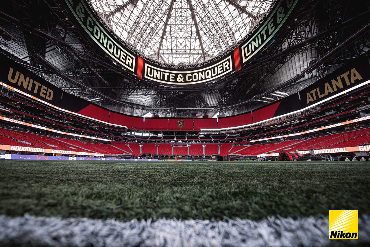 The stadium is seen before the match against Inter Miami FC at Mercedes-Benz Stadium in Atlanta, Georgia, on Wednesday September 29, 2021. (Photo by Dakota Williams/Atlanta United)