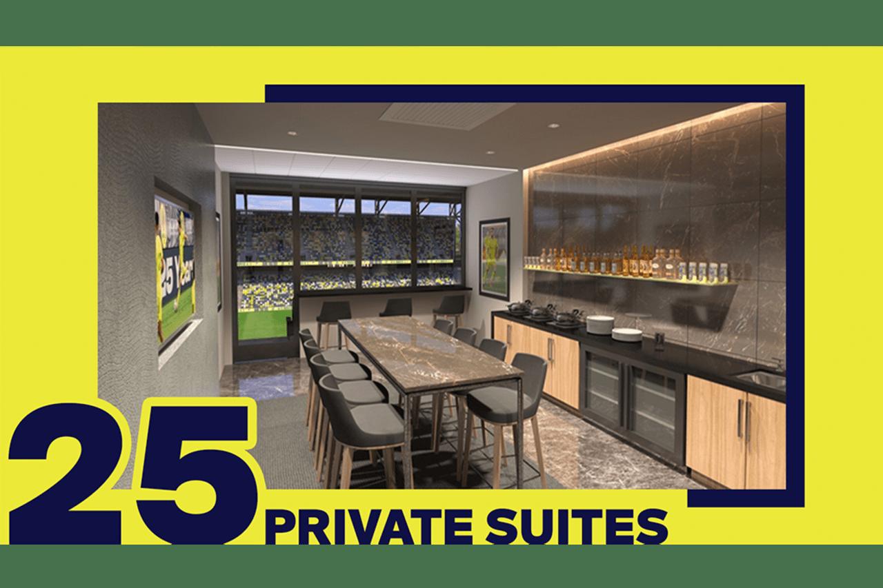 25 Private Suites