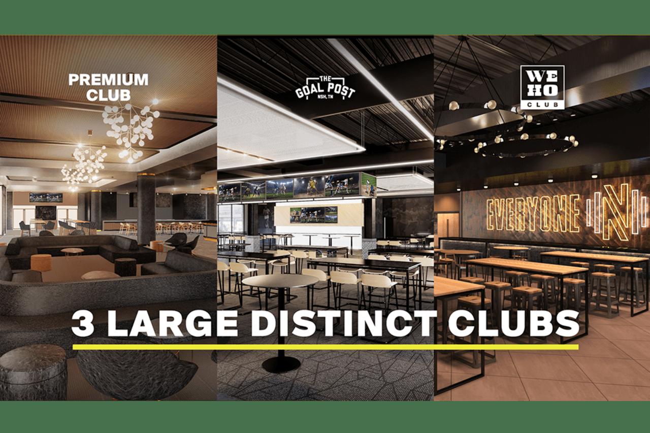 3 Distinct Clubs
