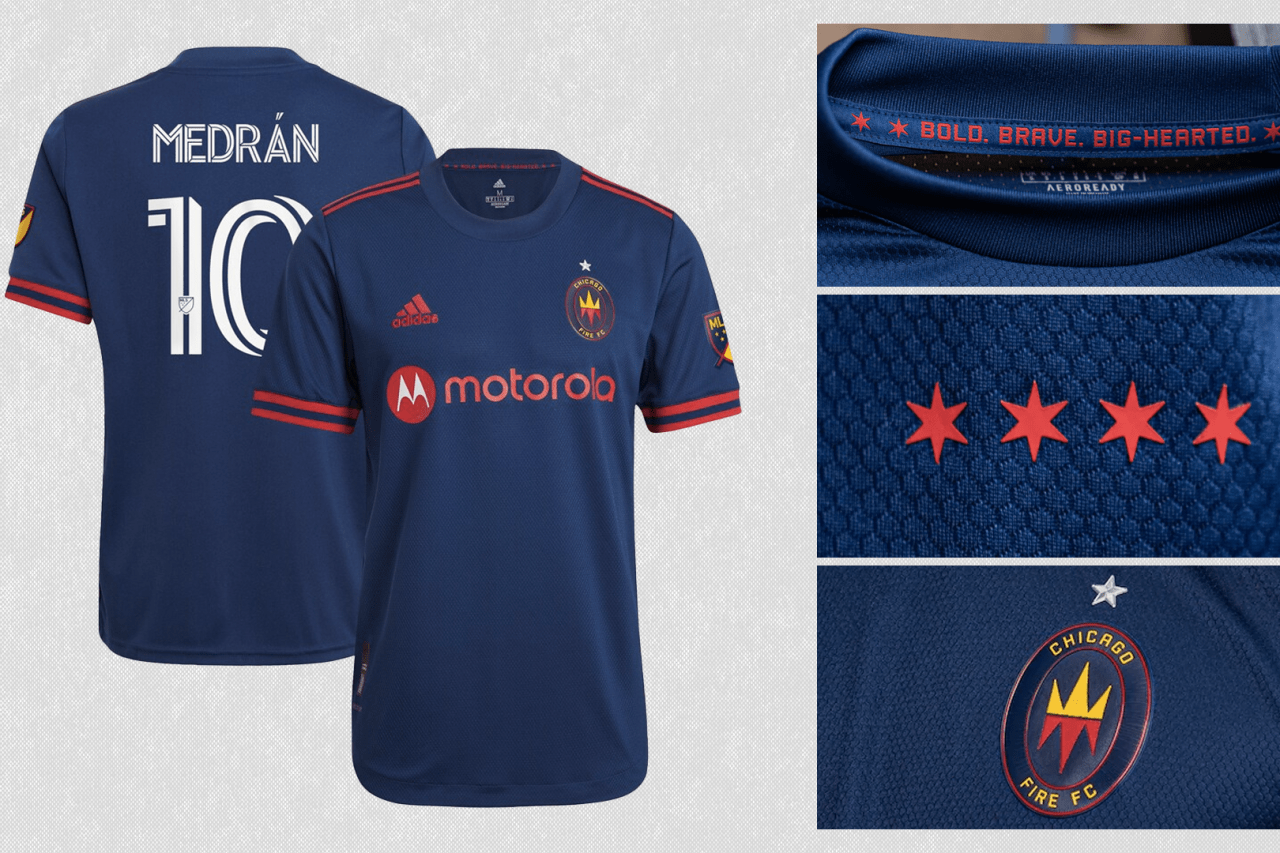 2021 Chicago Fire FC primary jersey