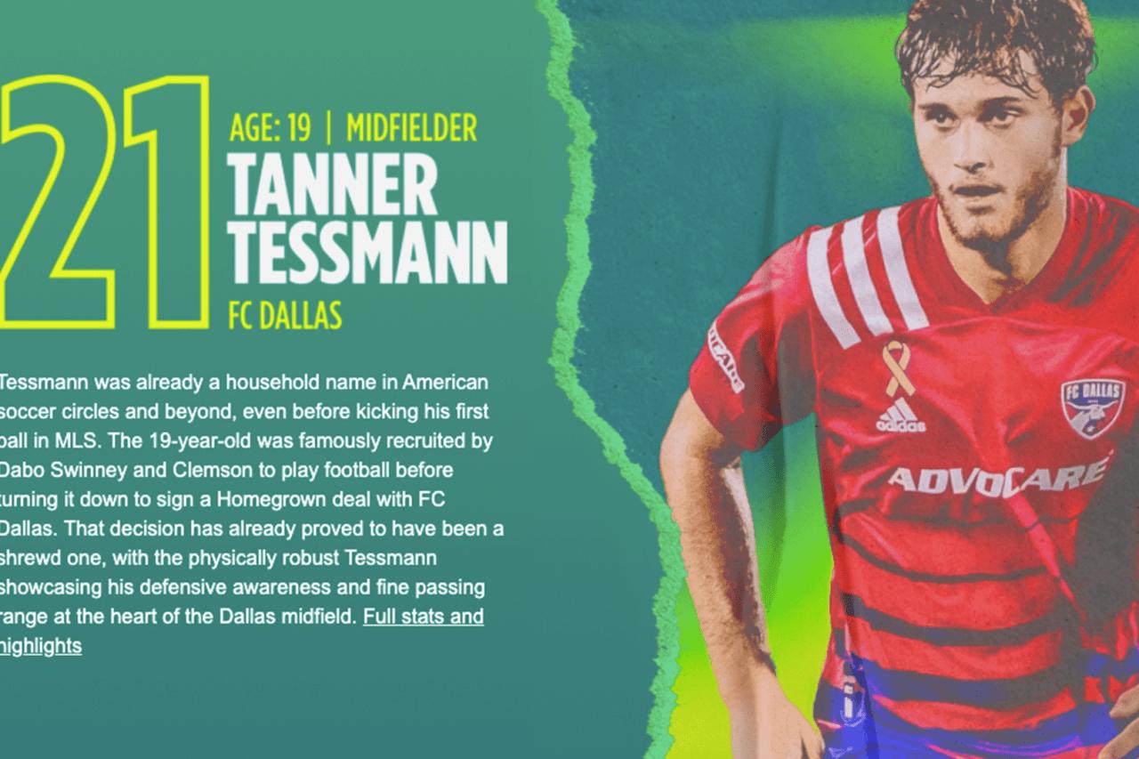 21. Tanner Tessmann (DAL)