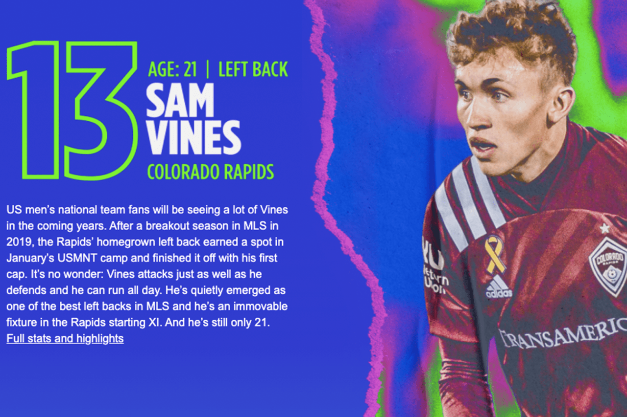 13. Sam Vines (COL)