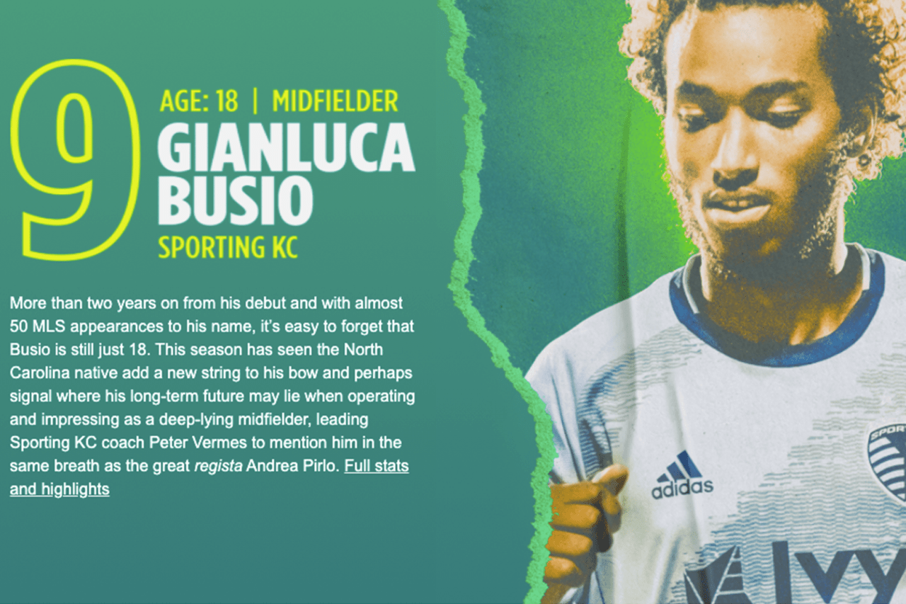 9. Gianluca Busio (SKC)