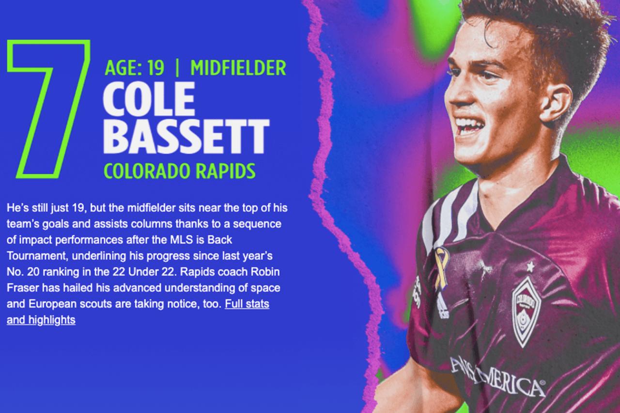 7. Cole Bassett (COL)