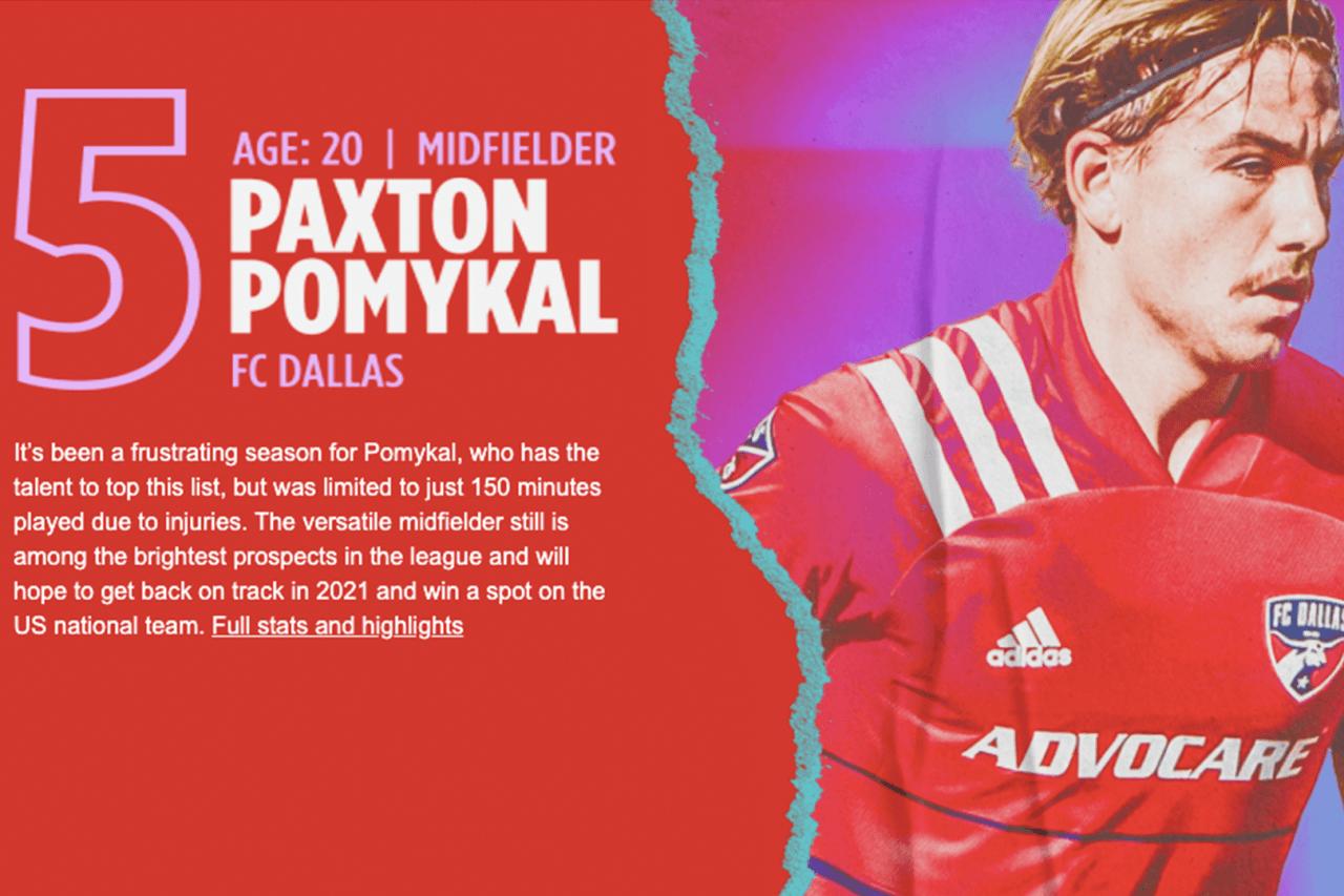 5. Paxton Pomykal (DAL)