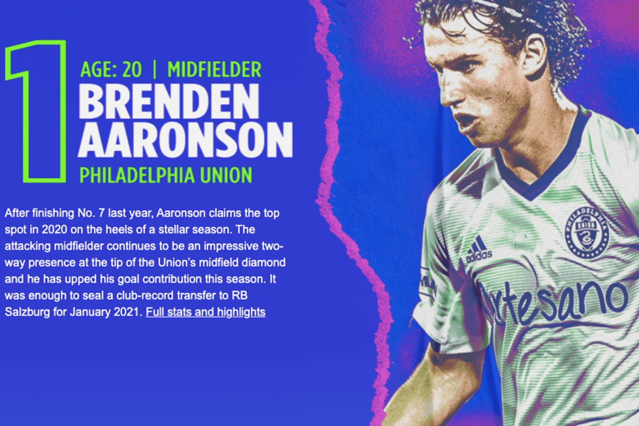 1. Brenden Aaronson (PHI)