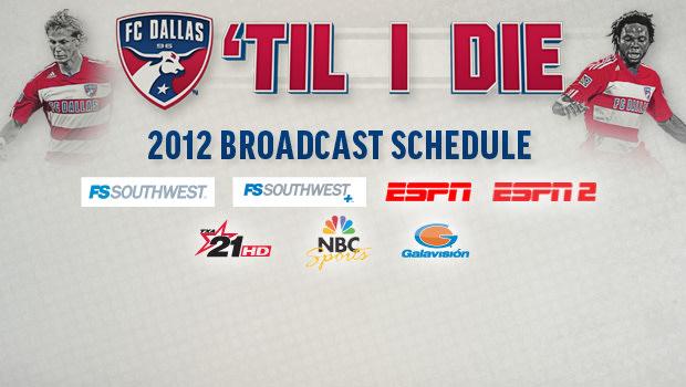 FC Dallas announces 2012 broadcast schedule |  FC Dallas