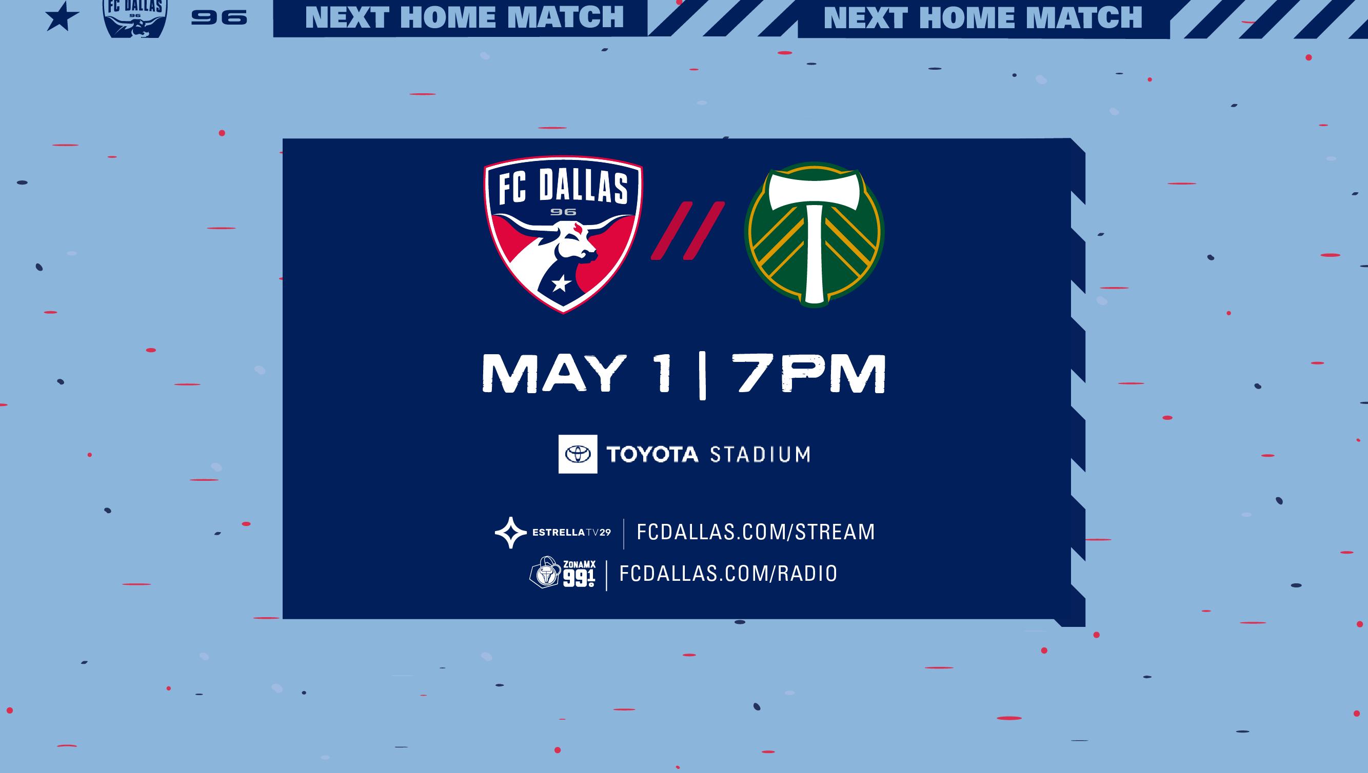 HOW TO WATCH: FC Dallas vs. Portland Timbers   5.1.21    FC Dallas