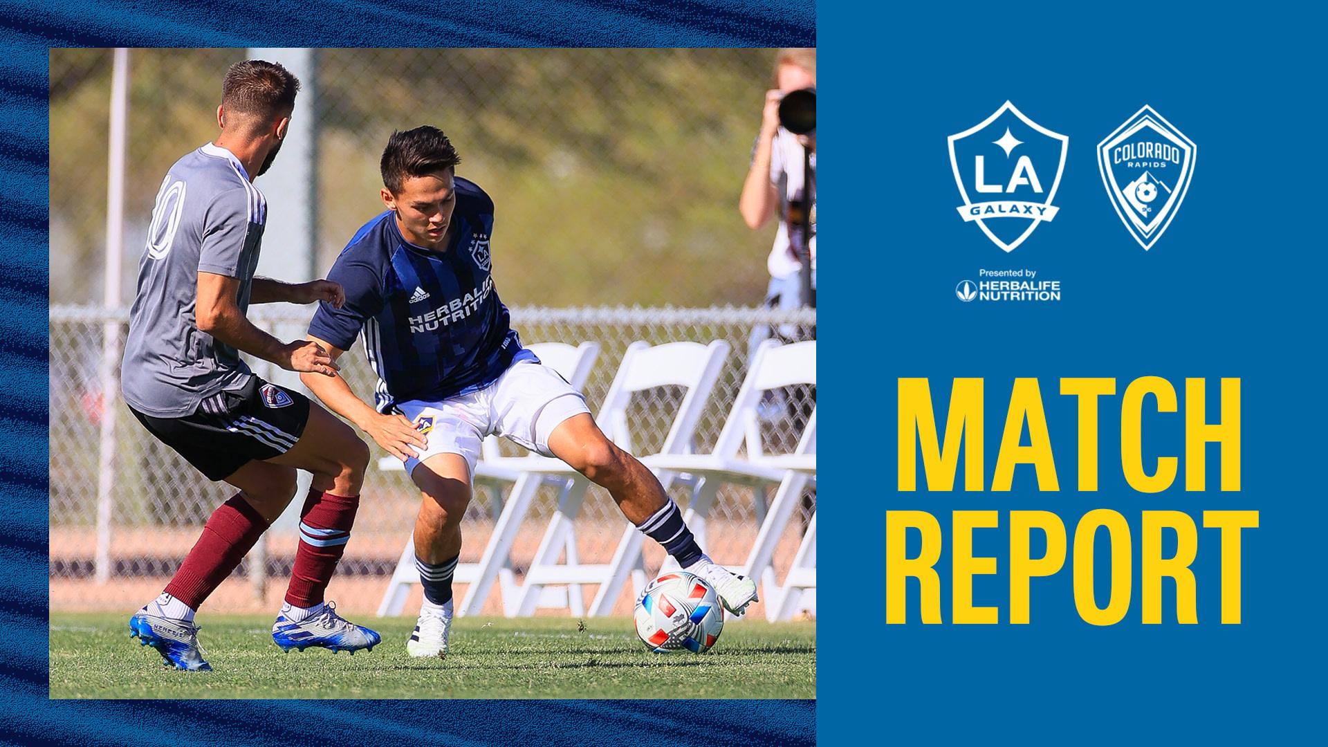 Match Report: LA Galaxy draw with Colorado Rapids in preseason contest | LA Galaxy