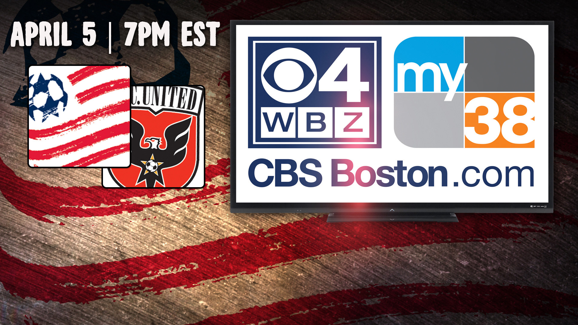 Revolution-United match on April 5 to be carried by myTV38 | New England Revolution