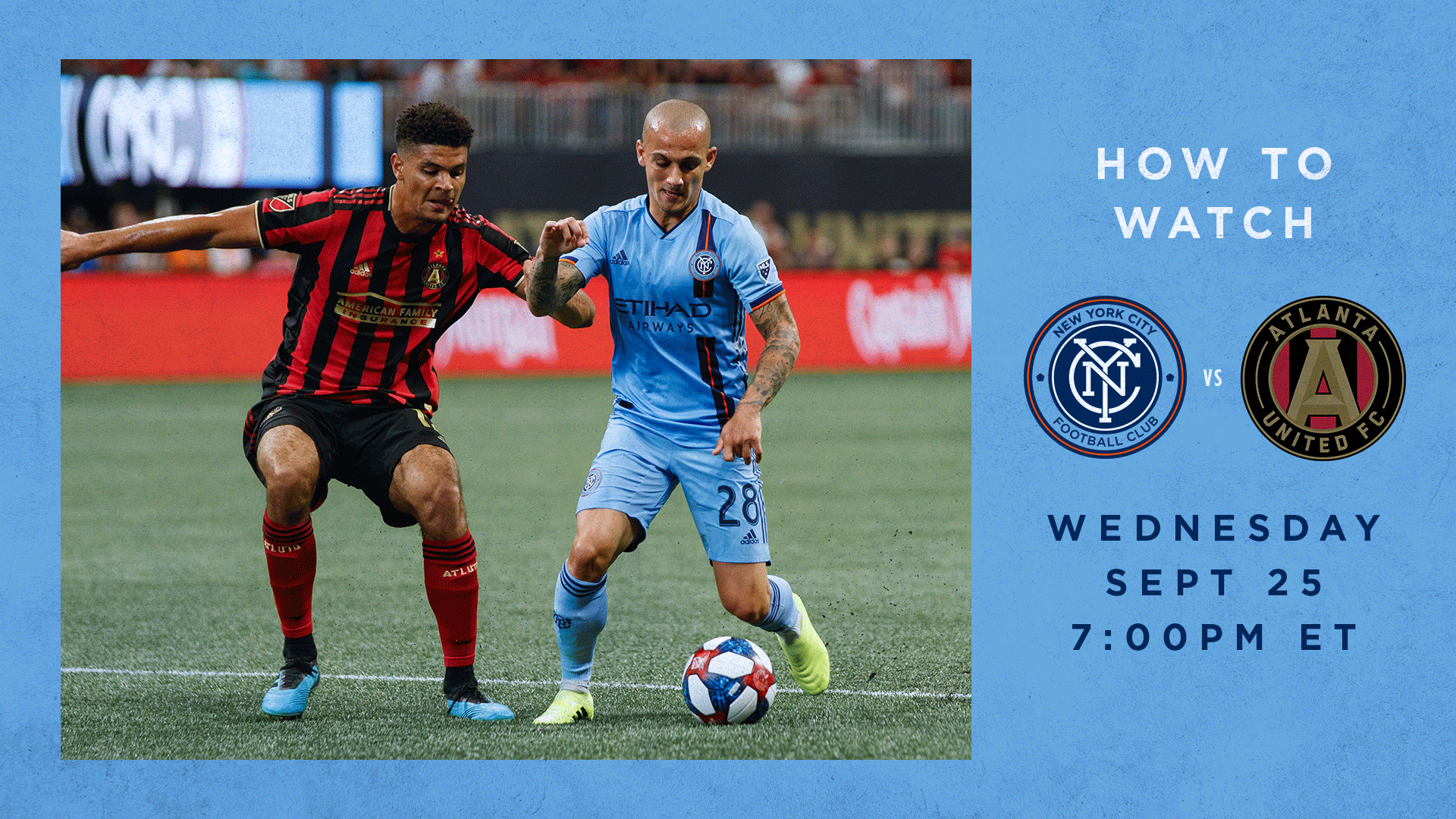What TV Channel is NYCFC vs. Atlanta United   New York City FC