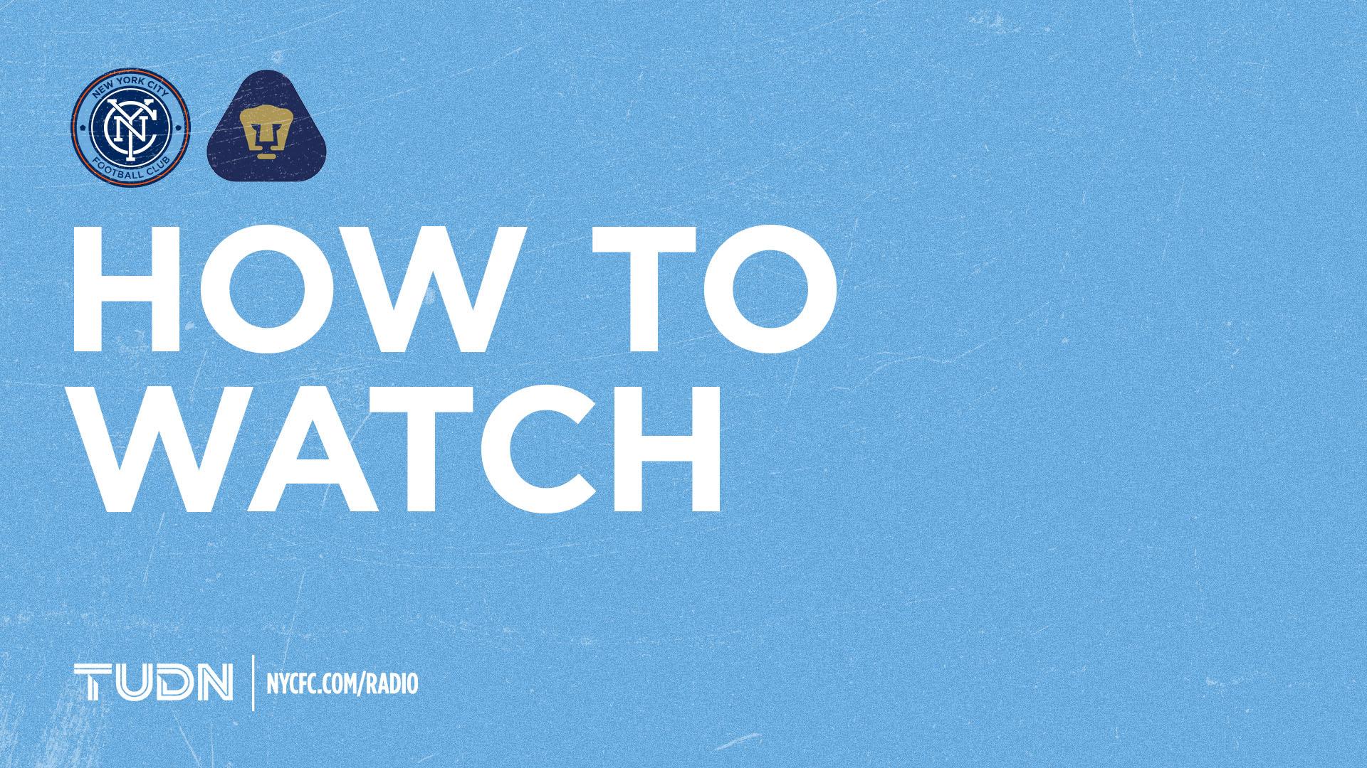 How to Watch & Listen to NYCFC vs. Pumas UNAM   New York City FC