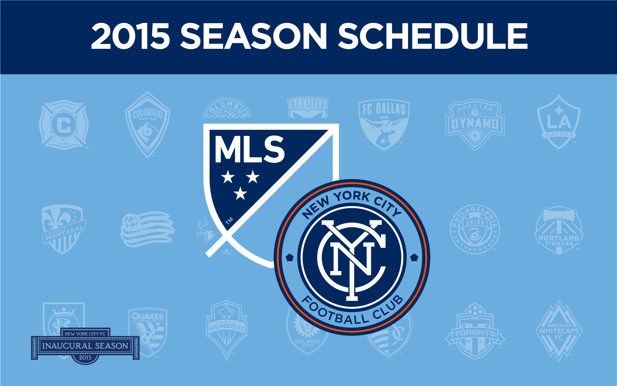 New York City FC 2015 Inaugural Schedule Revealed   New York City FC