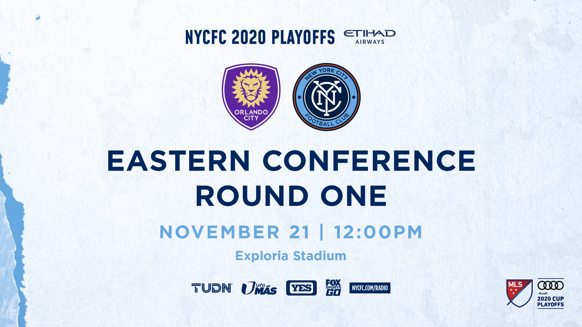New York City FC's 2020 Eastern Conference Quarterfinal Match to Air on YES Network and UniMas/TUDN   New York City FC