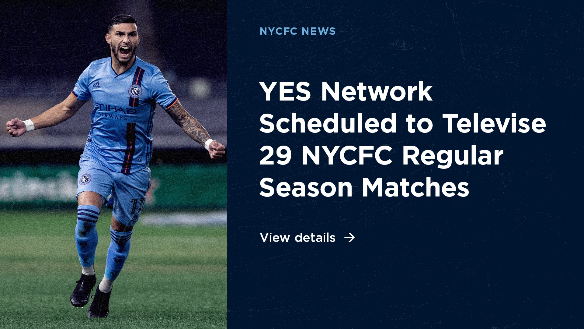YES Network Scheduled to Televise 29 New York City FC Regular Season Matches | New York City FC